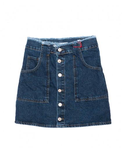 2996 XRAY юбка джинсовая на пуговицах осенняя котоновая (34-40, евро, 6 ед.) XRAY