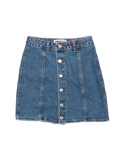 2889 mavi XRAY юбка джинсовая на пуговицах осенняя котоновая (34-40, евро, 6 ед.) XRAY