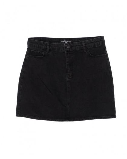 6010-B1 Real Focus юбка батальная джинсовая черная осенняя котоновая (30-34, 5 ед.) Real Focus
