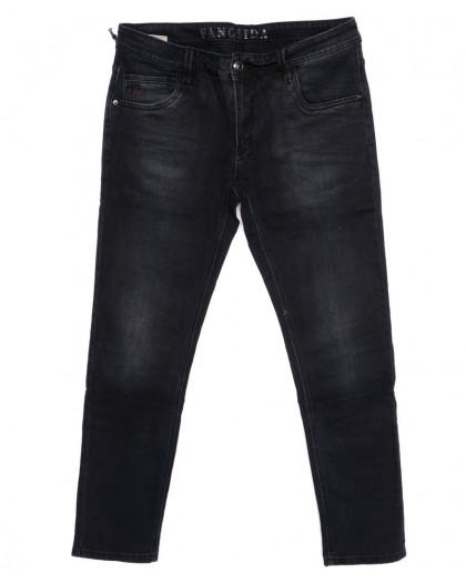 8142 Fangsida джинсы мужские батальные темно-серые осенние стрейчевые (32-38, 8 ед.) Fangsida