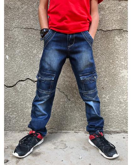 0135-02-06 SEVILLA джинсы на мальчика модные синие осенние стрейчевые (30-35, 6 ед.) Sevilla