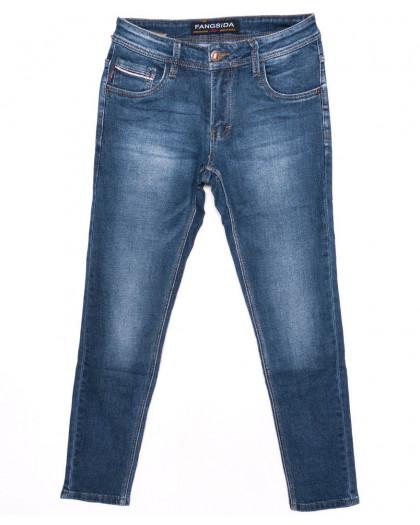 8152 Fangsida джинсы мужские молодежные синие осенние стрейчевые (27-34, 8 ед.) Fangsida