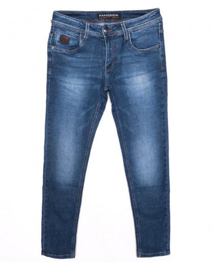 8153 Fangsida джинсы мужские зауженные синие осенние стрейчевые (29-38, 8 ед.) Fangsida