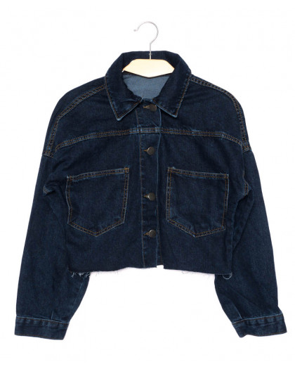 0308-1 X куртка джинсовая женская синяя осенняя стрейчевая (S-L, 4 ед.) X