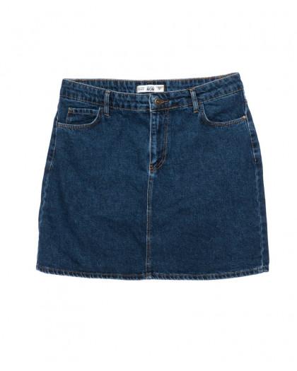 6010-01 Real Focus юбка джинсовая батальная женская синяя осенняя котоновая (30-34, 5 ед.) Real Focus