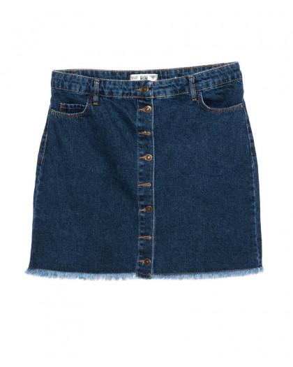 6009-02 Real Focus юбка джинсовая батальная черная осенняя котоновая (30-34, 5 ед.) Real Focus