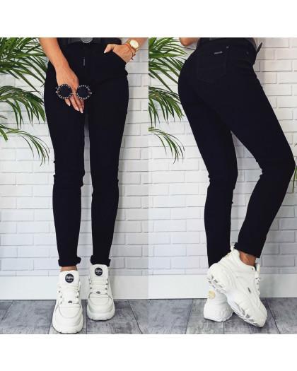8866 LDM джинсы женские черные с ремнем осенние стрейчевые (27-32, 6 ед.) LDM