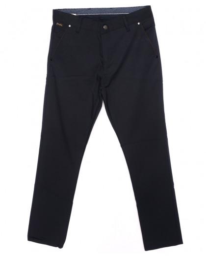 0063-KLT батал Big Jesuis брюки мужские батальные темно-синие осенние стрейч-котон (33-40, 7 ед.) Big Jesuis