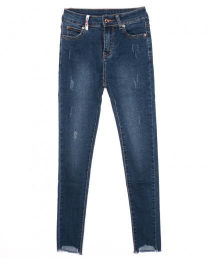 3328 New jeans американка синяя с царапками осенняя стрейчевая (25-30, 6 ед.) New Jeans