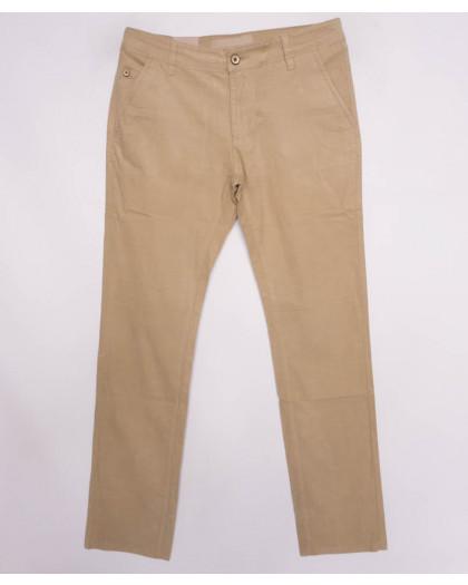 140015 LS брюки мужские бежевые осенние стрейчевые (27-34, 8 ед.) LS