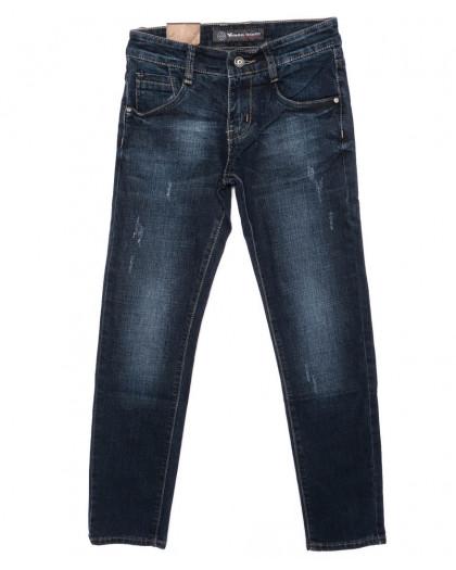 1948 Viman джинсы мужские молодежные с царапками синие осенние стрейчевые (25-30, 6 ед.)  Viman