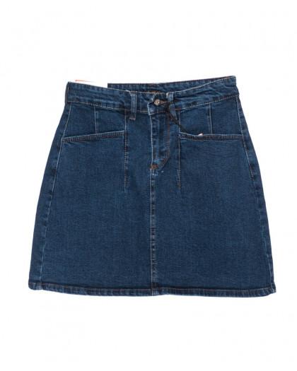 0523 REDMOON юбка джинсовая синяя осенняя котоновая (25-30, 6 ед.)  REDMOON
