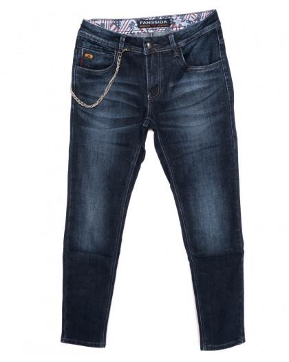 8181 Fangsida джинсы мужские молодежные синие осенние стрейчевые (27-34, 8 ед.)  Fangsida