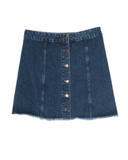 3038 Miele юбка синяя батальная на пуговицах осенняя котоновая (42-50, евро, 5 ед.) Miele