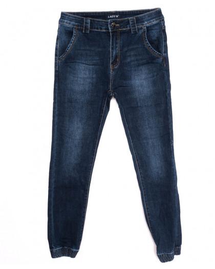 1404 Lady N джинсы женские батальные на манжете синие осенние стрейчевые (28-33, 6 ед.) Lady N