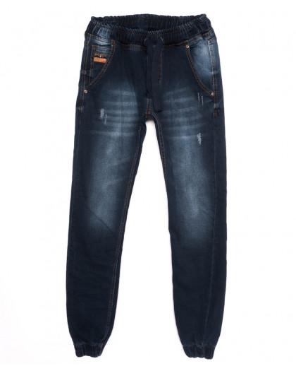 5125 Denim джинсы мужские с царапками на резинке синие осенние стрейчевые (29-36, 8 ед.) Denim
