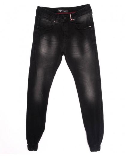 5057 Denim джинсы мужские с царапками на резинке темно-серые осенние стрейчевые (29-36, 8 ед.) Denim