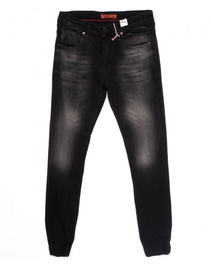 5056 Denim джинсы мужские с царапками на резинке темно-серые осенние стрейчевые (29-36, 8 ед.) Denim