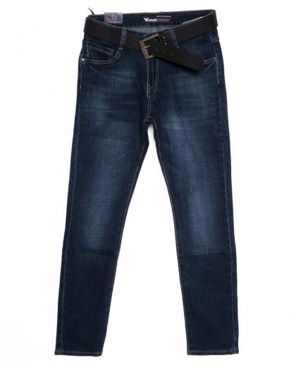 19025-2 Viman джинсы мужские синие осенние стрейчевые (31-42, 6 ед.) Viman