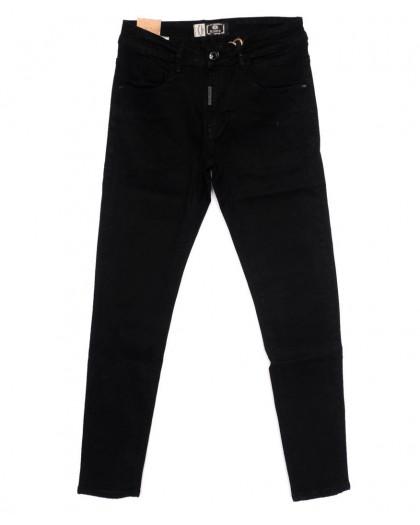 0182 M.Sara джинсы мужские молодежные черные осенние стрейчевые (28-35, 6 ед.) M.Sara