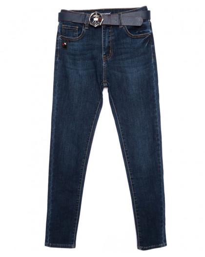 9343 LDM джинсы женские батальные синие осенние стрейчевые (28-33, 6 ед.) LDM