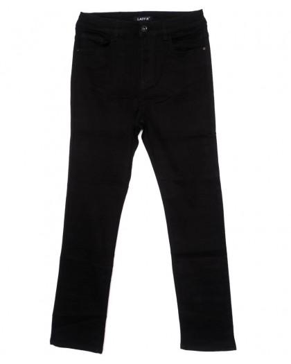 1436 Lady N джинсы женские батальные черные осенние стрейчевые (31-38, 6 ед.) Lady N