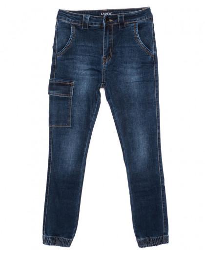 1405 Lady N джинсы женские на резинке синие осенние стрейчевые (25-30, 6 ед.) Lady N