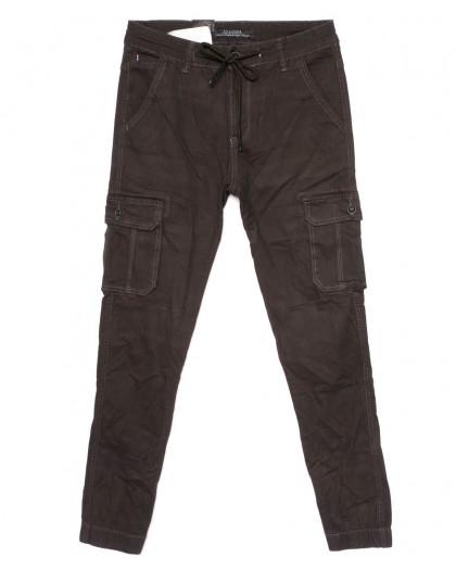 140088 LS брюки мужские молодежные с карманами на резинке осенние стрейчевые (27-34, 8 ед.) LS