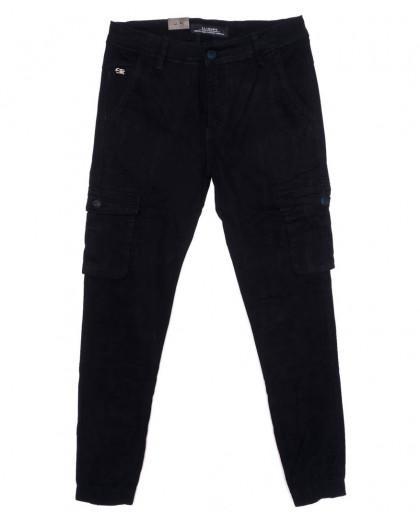 140085 LS брюки мужские молодежные с карманами на резинке осенние стрейчевые (27-34, 8 ед.) LS