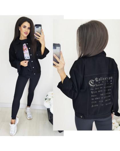 0239-3 Relucky куртка джинсовая женская с вышивкой осенняя котоновая (S-3XL, 6 ед.) Relucky