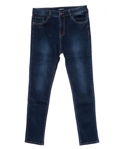 1424 Lady N джинсы женские батальные синие осенние стрейчевые (31-38, 6 ед.)  Lady N