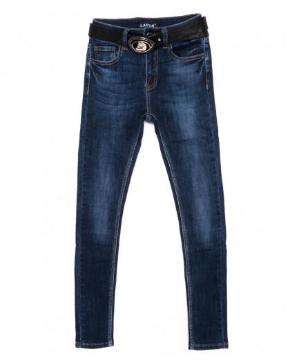 1418 Lady N джинсы женские синие осенние стрейчевые (25-30, 6 ед.)  Lady N