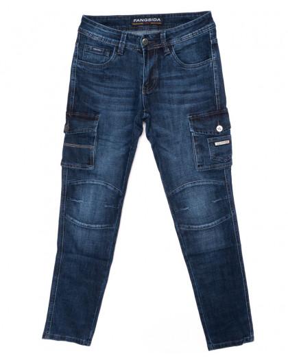 8229 Fangsida джинсы мужские молодежные с карманами осенние стрейчевые (27-34, 8 ед.) Fangsida