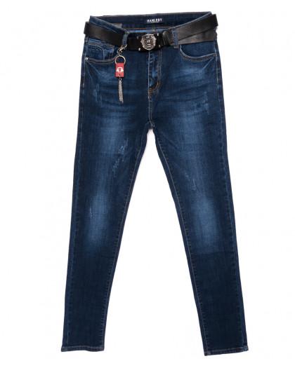 3603 Hanleby джинсы женские батальные с царапками осенние стрейчевые (28-33, 6 ед.) Hanleby