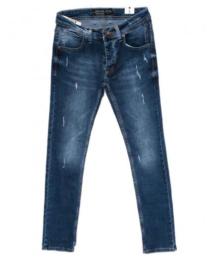 5953 Redcode джинсы мужские с царапками синие осенние стрейчевые (29-36, 8 ед.) Redcode