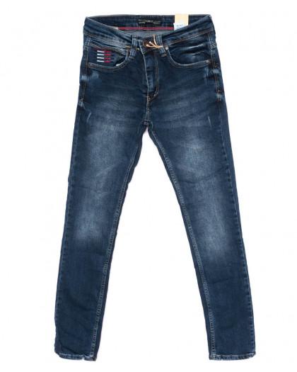 5890 Corcix джинсы мужские с царапками синие осенние стрейчевые (29-36, 8 ед.) Corcix