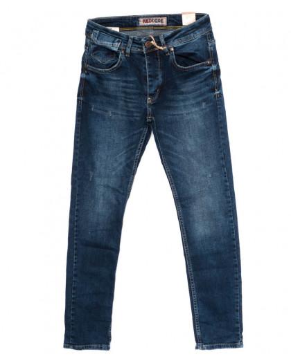 6048 Redcode джинсы мужские с царапками синие осенние стрейчевые (29-36, 8 ед.) Redcode