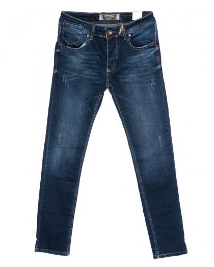 6051 Corcix джинсы мужские с царапками синие осенние стрейчевые (29-36, 8 ед.) Corcix