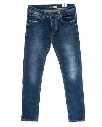 5821 Destry джинсы мужские с царапками синие осенние стрейчевые (29-36, 8 ед.) Destry