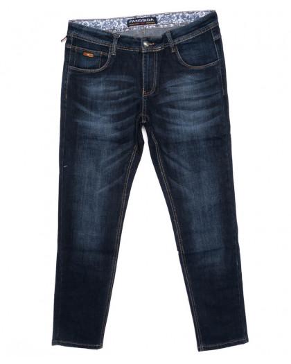 8195 Fangsida джинсы мужские батальные синие осенние стрейчевые (32-38, 8 ед) Fangsida