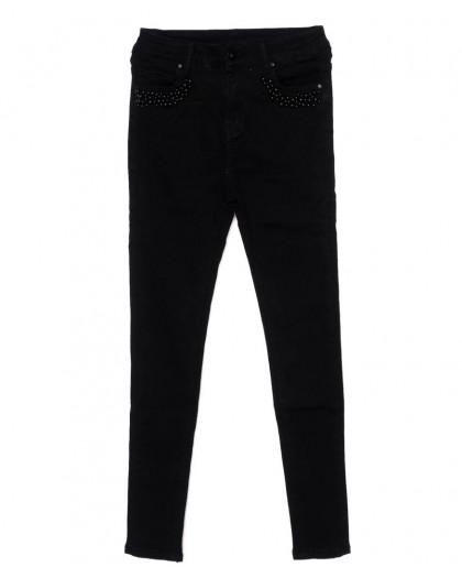 3355 New jeans американка черная осенняя стрейчевая (25-30, 6 ед.)  New Jeans