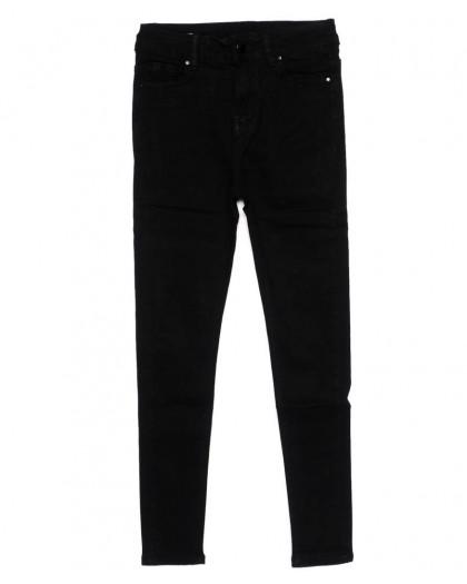 3392 New jeans американка черная осенняя стрейчевая (25-30, 6 ед.)  New Jeans