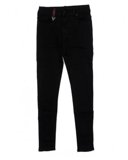 3352 New jeans американка черная осенняя стрейчевая (25-30, 6 ед.)  New Jeans