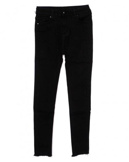 3396 New jeans американка черная осенняя стрейчевая (25-30, 6 ед.)  New Jeans