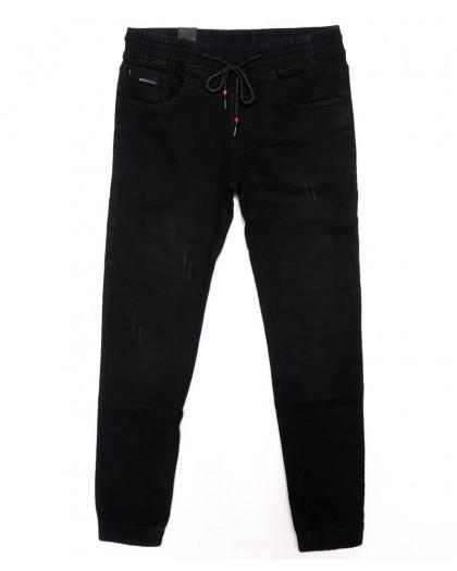 0012-0271-X LS джинсы мужские с царапками на резинке осенние стрейчевые (29-36, 8 ед.) LS