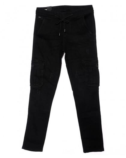 0012-0277-X LS джинсы мужские молодежные на резинке модные осенние стрейчевые (27-34, 8 ед.) LS