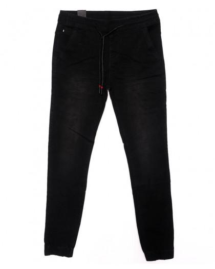 0012-0274-X LS джинсы мужские на резинке черные осенние стрейчевые (29-36, 8 ед.) LS