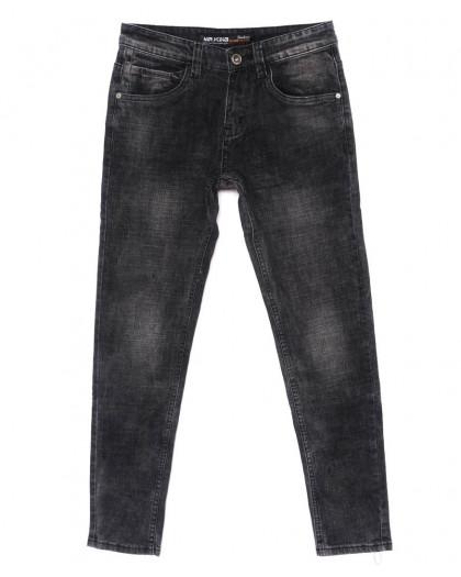 0005 Mr.King джинсы мужские молодежные темно-серые осенние стрейч-котон (28-34, 8 ед.) Mr.King
