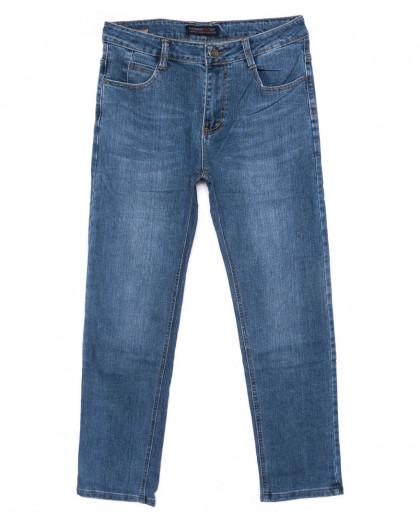 0007-А New Design джинсы мужские полубатальные синие осенние стрейчевые (32-38, 8 ед.) New Design