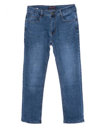 0001-А New Design джинсы мужские полубатальные синие осенние стрейчевые (32-42, 8 ед.) New Design